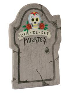 Grabstein Tag der Toten Halloween-Deko grau-bunt 56cm