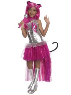 Monster High Catty Noir Kinderkostüm Lizenzware pink-silber