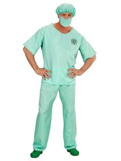 Chirurg-Kostüm Arzt Plus Size mintgrün