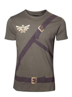 Zelda T-Shirt Link Lizenzware grün-braun