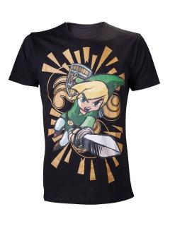 Zelda Link T-Shirt Lizenzware schwarz-bunt