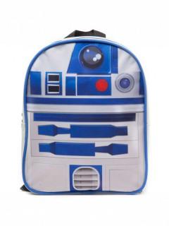 Star Wars R2D2 Rucksack für Kinder Lizenzware blau-weiss