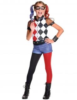 Supero Girls™ Harley Quinn™ Kinderkostüm Lizenzware schwarz-rot-weiss