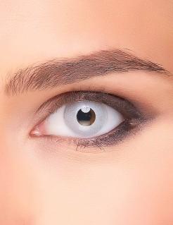 Spiegelnde Kontaktlinsen silber 14,5mm
