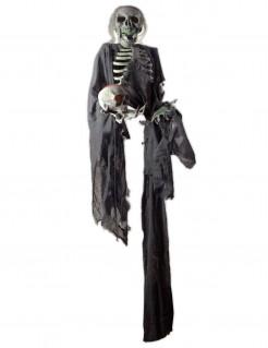 Gruselige Skelett-Hängedeko schwarz-weiss