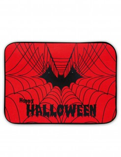 Halloween-Türvorleger mit Leucht- und Soundfunktion rot-schwarz