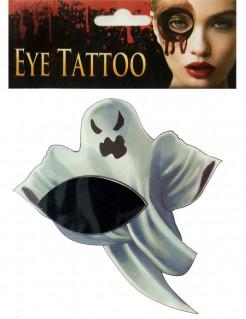 Augen-Tattoo Halloween-Gesichtstattoo Gespenst weiß-schwarz