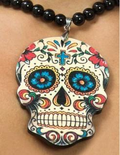 Dia de los Muertos Sugar Skull Kette Halloween-Accessoire bunt