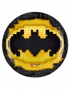 Lego Batman™ Pappteller 8 Stück schwarz-gelb 23cm