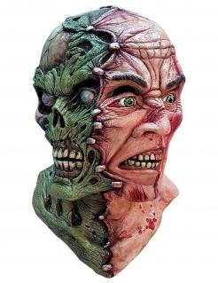 Siamesischer Zombie-Zwilling Halloween Horror-Maske bunt