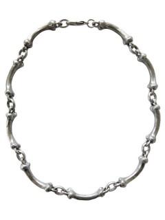 Gothic-Halskette Knochen Halloween silber