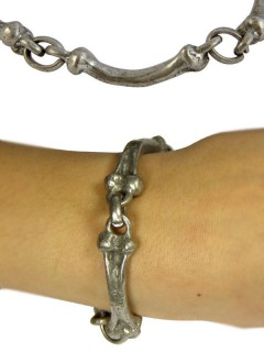 Gothic Armband Knochen silber