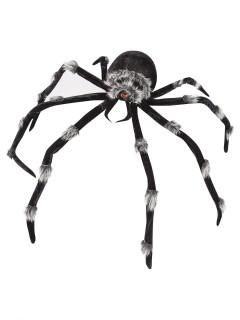 Schaurige Riesen-Spinne Halloween Party-Deko schwarz-grau 2m