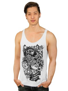 GraveArt My Purpose Herren Tank Top Loose Fit weiss