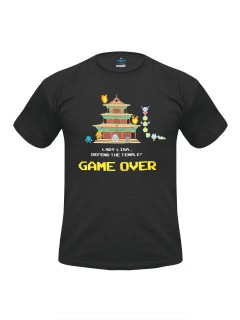 Dojo Quest™-Shirt Pixel Game Over schwarz-bunt