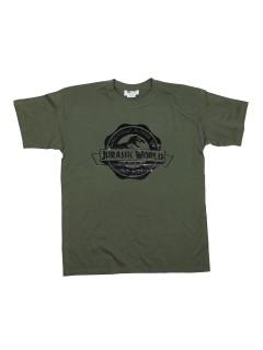 Jurassic World T-Shirt Logo olivgrün-schwarz