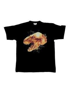 Jurassic World™-T-Shirt Tyrannosaurus Rex Lizenzware schwarz-gelb