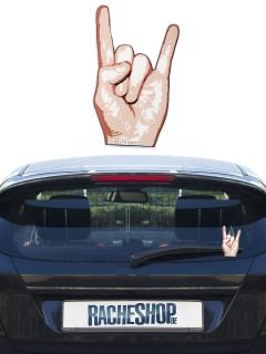 Rockfinger Metal-Sign Scheibenwischer-Deko Auto-Gadget hautfarben 12cm