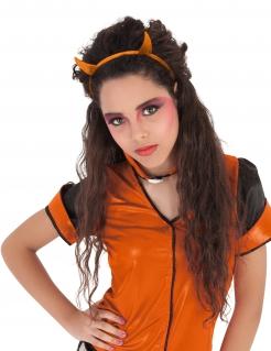 Halloween-Haarreif mit Teufelshörnern Kostüm-Accessoire für Kinder rot