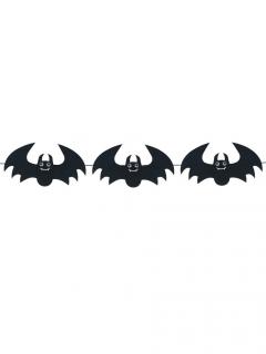 Süsse Fledermaus-Girlande Halloween-Partydeko schwarz