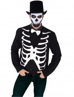 Knochen-Weste Skelettkostüm-Accessoire schwarz-weiss