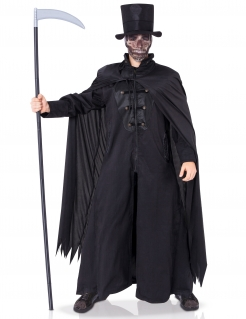 Tod-Kostüm Sensenmann-Horrorkostüm schwarz
