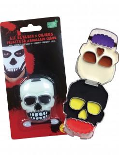 Totenschädel-Schminkset 6 Farben Halloween-Make-up bunt