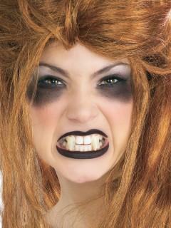 Furchterregende Vampir-Eckzähne zum Anpassen weiss