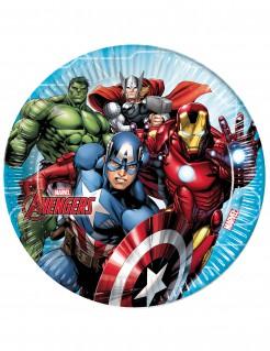 Mighty Avengers™-Pappteller 8 Stück bunt 23cm