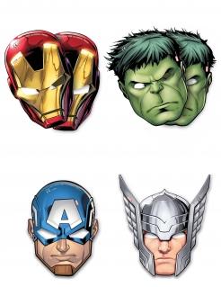 Avengers™-Masken Avengers Mighty™ Accessoire 6 Stück bunt