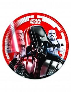 Star Wars™ Pappteller 8 Stück schwarz-rot-weiss 20cm
