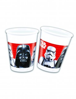 Star Wars Final Battle™ Becher-Set rot-schwarz-weiss 20cl