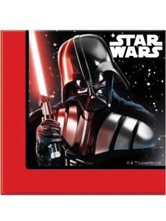 Star Wars Final Battle™ Papierservietten 20 Stück schwarz-weis-rot 33x33cm