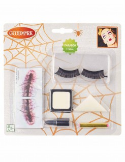 Halloween Make-up Set Horrorpuppe 7-teilig bunt