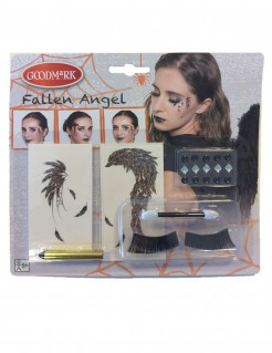 Halloween Make-up Set Gefallener Engel 7-teilig bunt