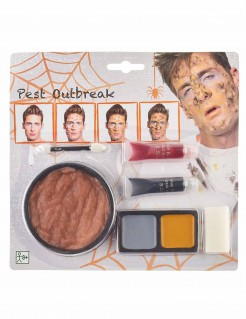 Pestopfer-Schminkset Halloween-Make-up 6-teilig bunt
