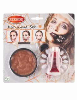 Zombie Schmink-Set Halloween Make-up 5-teilig bunt