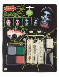 Nachtleuchtendes Halloween Make-up-Set 13-teilig bunt