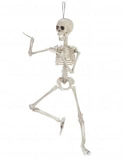 Gelenkiges Skelett Halloween-Dekofigur beige 48cm