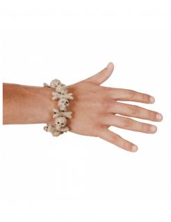 Armband mit Totenschädeln Halloween-Schmuck beige