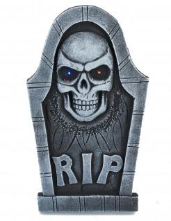 Grabstein mit Leuchtfunktion Halloween-Partydeko grau 53 x 29cm