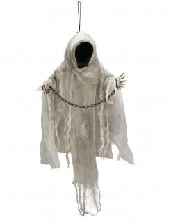 Gesichtsloser Geist Halloween-Hängedeko mit Leuchtfunktion weiss 100 cm