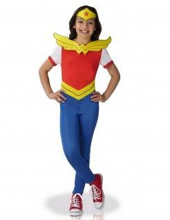 Wonder Woman™ Kostüm für Mädchen rot-gelb-blau