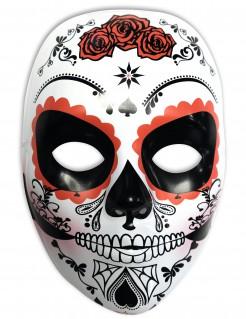 Dia de los Muertos Sugar Skull Halloween-Maske weiss-schwarz-rot