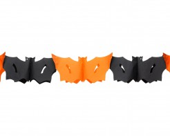 Halloween Girlande Fledermaus orange-schwarz 3 m