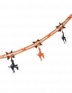 Girlande Halloween Hexen orange-schwarz 240 cm