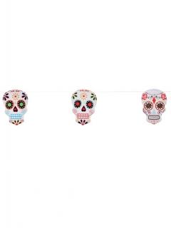 Tag der Toten Skelett-Girlande Halloween bunt 300cm