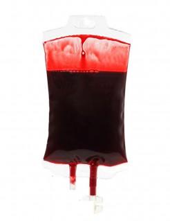 Blutbeutel Halloween-Partydeko transparent-rot 16cm
