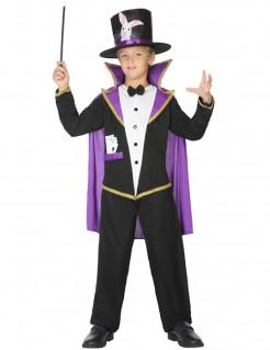 Kostüm für Jungen Magier schwarz-violett