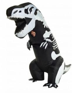 Untoter T-Rex Aufblasbares Dinosaurierkostüm Morphsuits™ schwarz-weiss